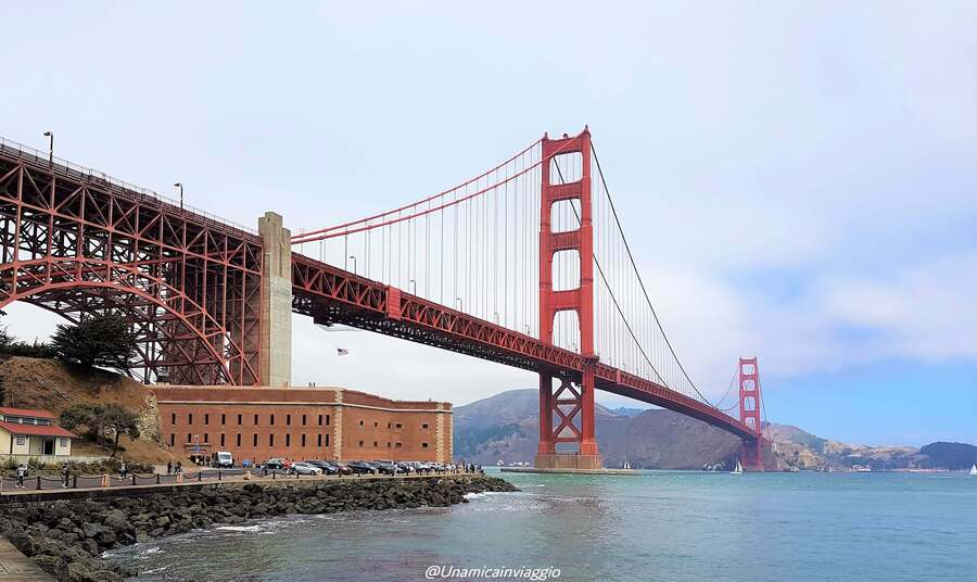 cosa vedere a san francisco in 3 giorni - itinerario per visitare san francisco in 3 giorni - golden gate bridge visto da fort point